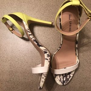 Call It Spring Neon/Snake Print Heels